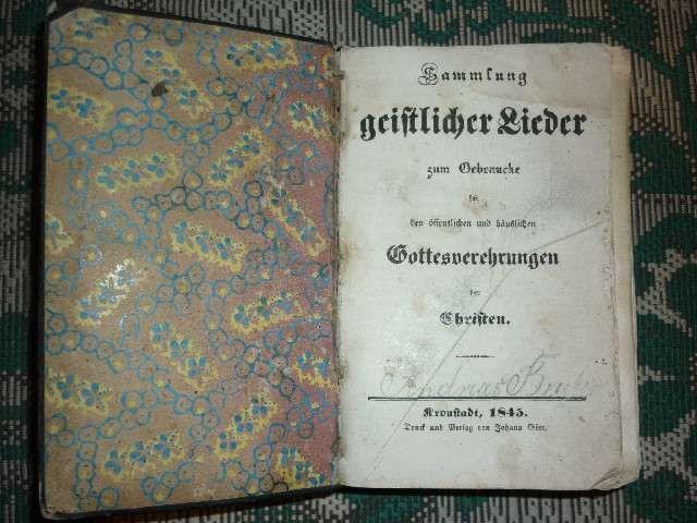 carte veche bisericeasca din 1845 catolica foarte rara