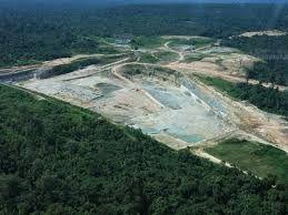 Trespasse duma mina de calcário