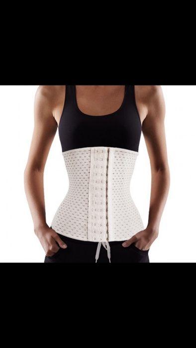 Centura slabit modelatoare burtiera micsoreaza talia corset crem bej Bucuresti - imagine 5