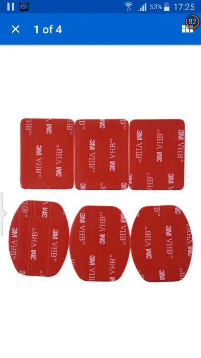 Banda 3M sticker dublu adeziv 2 bucati Go Pro 3 2 1 etc