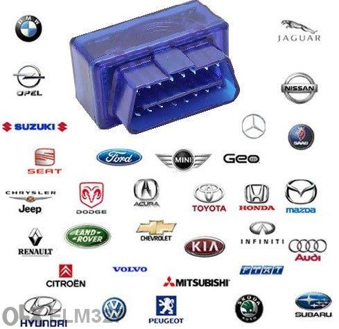 Super mini Elm327 obd2 Bluetooth интерфейс за диагностика на автомобил