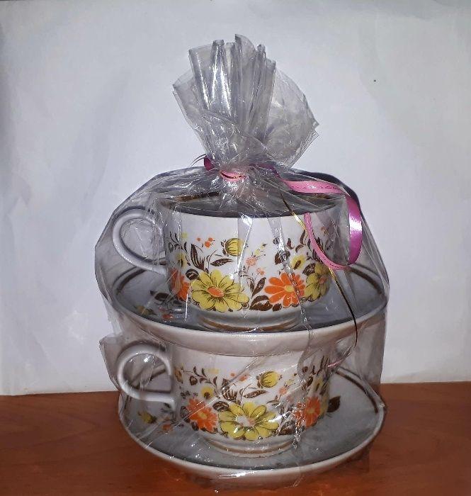 Чайная чашка с блюдцем 2шт советская новая