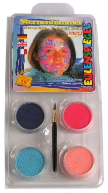 Stele Stelute Set 4 culori pictura pe fata si pensula Eulenspiegel