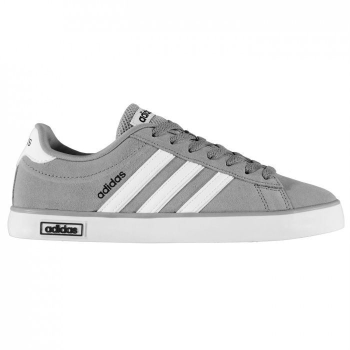 Мъжки маратонки Adidas Neo Derby Vulc Suede Trainers Mens - Grey/White