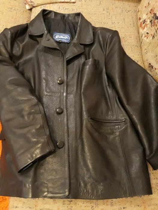Кожено сако XL