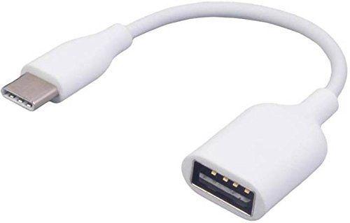 Кабел Преходник Type C - USB женско OTG Digital One Бял SP00065 On-The