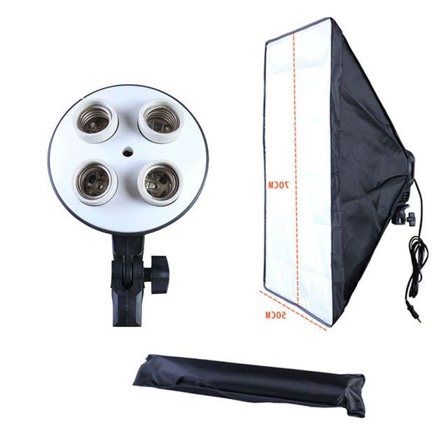 Softbox 50x70cm cu 4 socluri E27, Studio, Videochat, Oglinda Magica Bucuresti - imagine 1