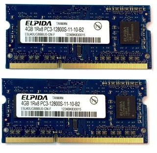 8GB memorie Laptop Elpida EBJ40UG8BBU0-GN-F PC3 12800 1600MHz 1.5V