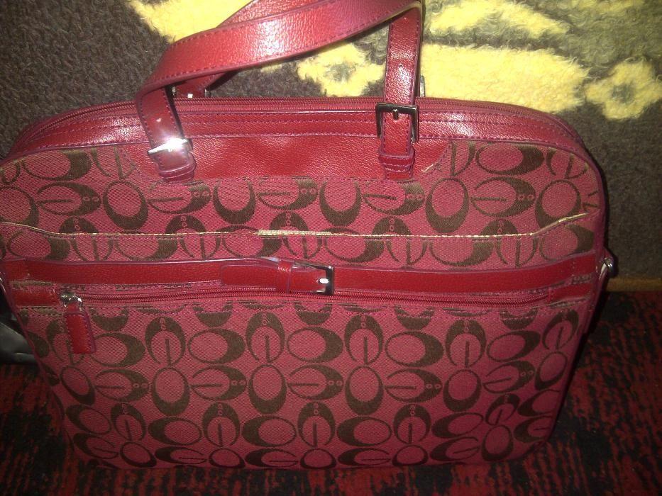 set genti geanta valiza voiaj si laptop, imprimeu guess