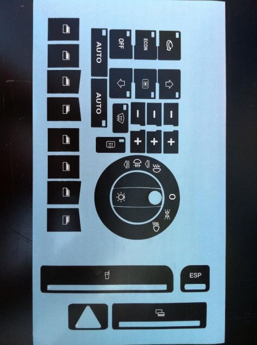 Нов модел Лепенки за ремонт на изтъркани копчета за Ауди