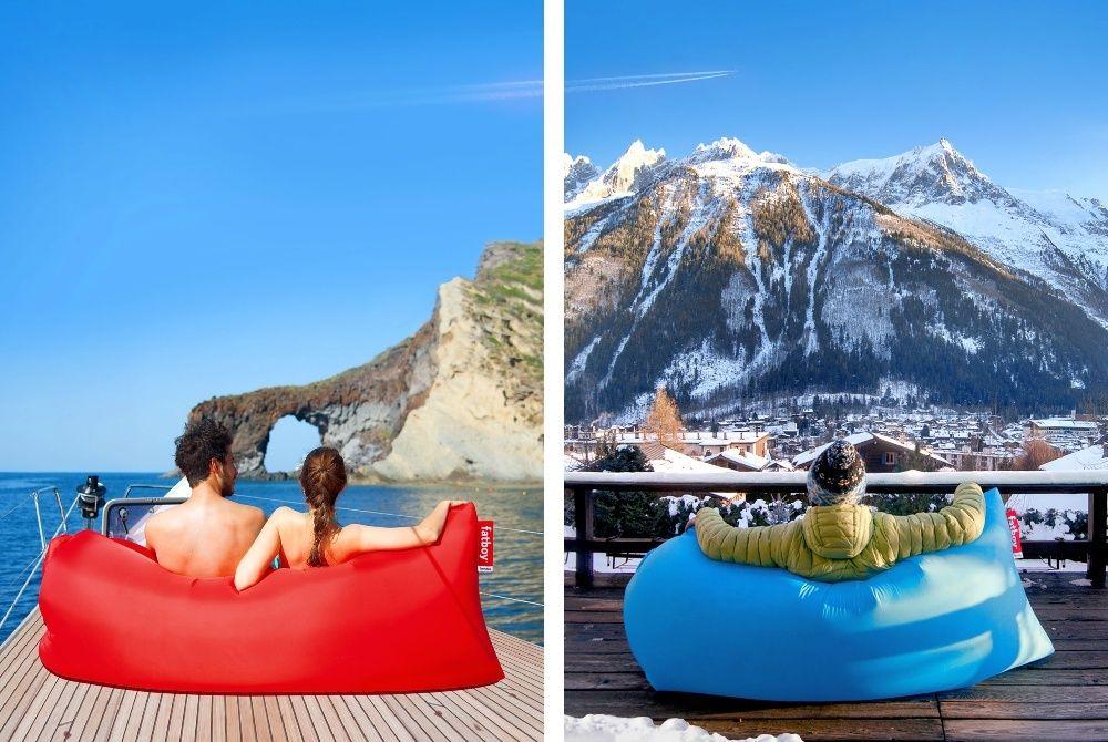 100% оригинален Bubble bed Надуваемо кресло/диван/чувал/легло/ламзак/б