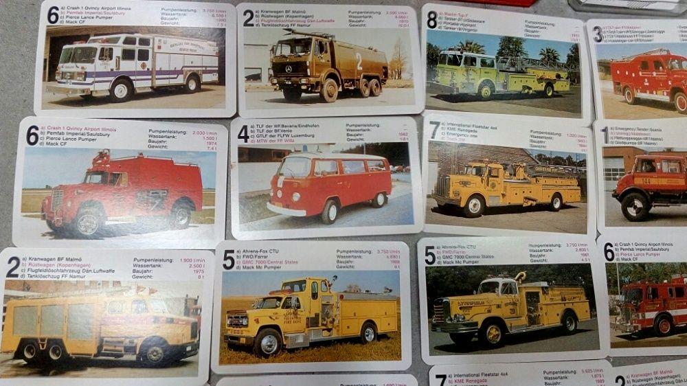 Cărți de joc colecționbile cu mașini epocă vw ford tir camion machete