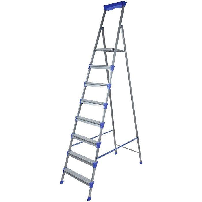 Лестница - стремянка металлическая широкие 8 ступени Nika (Ника) СМ8