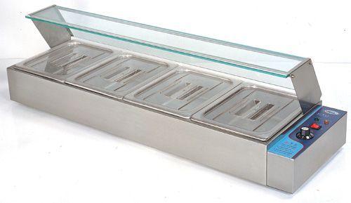 Топла Бен-мари витрина за 4 съда GN ½-100 мм