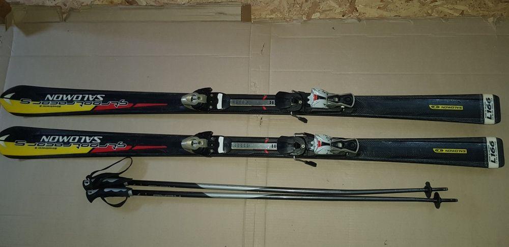 Set Ski-uri Salomon StreetRacer 5 / Clapari / Bete