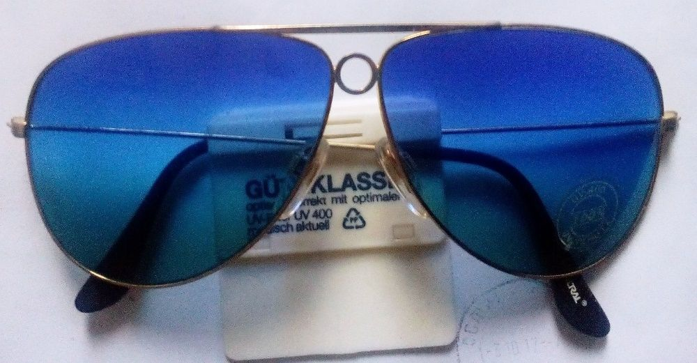 1 Слънчеви очила тип Рейбан позлатени със стъкла FILTRAL UV-400