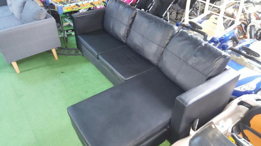Canapea piele neagra