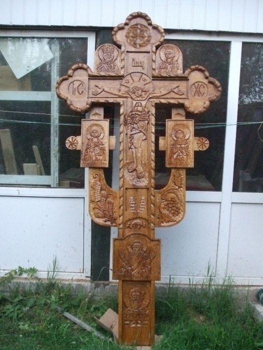 troite sculptate manual pe stejar in stil ortodox