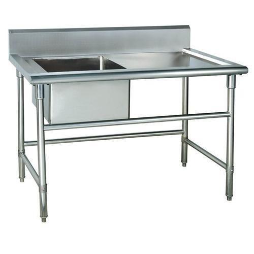 Мивка с работна маса от неръждаема стомана