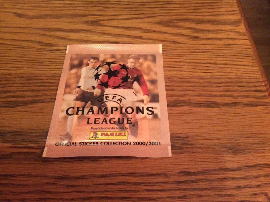 Plic pliculet sigilat Panini Champions League 2000 2001 Finale Edition