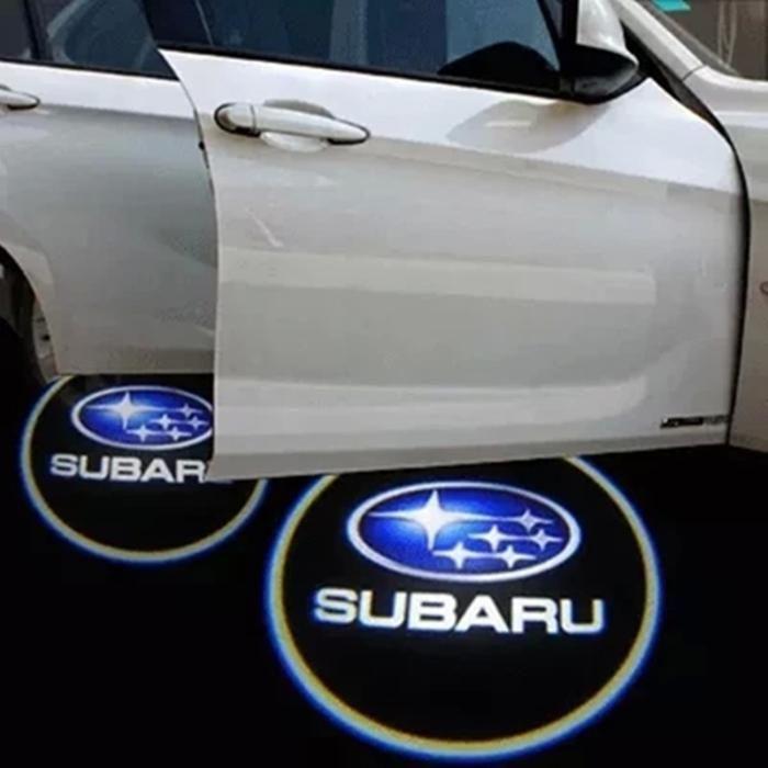 Lumini portiere led cu emblema Subaru