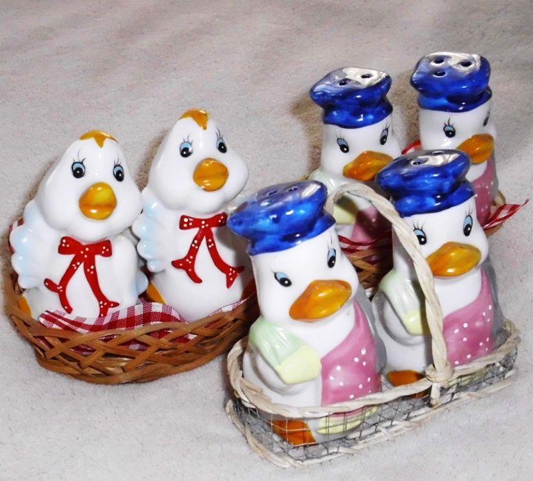 Великденски керамични солнички - пилета