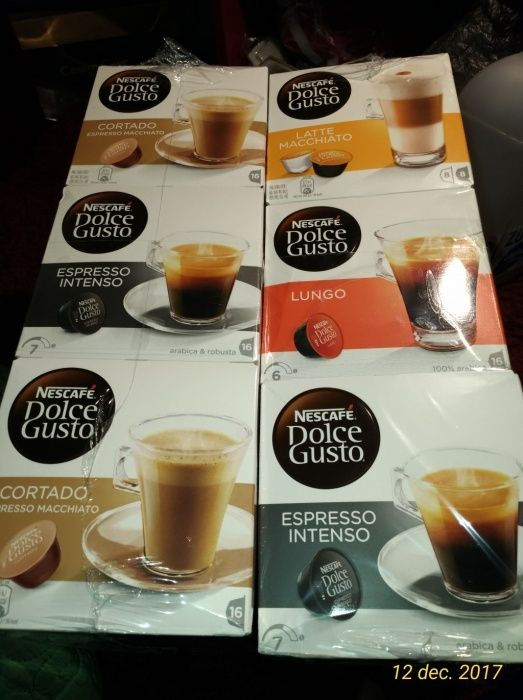 Capsule NESCAFE cortado, espresso intenso cafea Lungo, latte mAcchiato