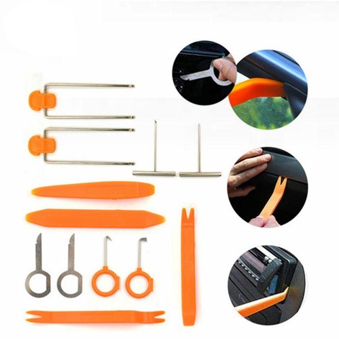 Большой комплект инструментов для разборки обшивки салона- 12 шт.