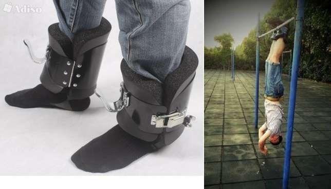Гравитационные/инверсионные ботинки/крюки для турника. Тренажер спины