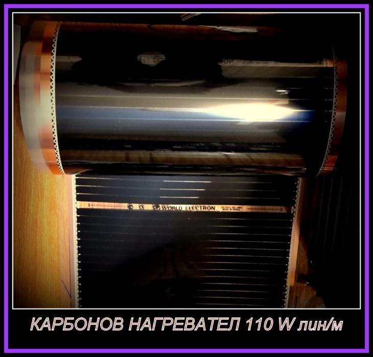 карбонов инфрачервен нагревател за под килими за стени за подово