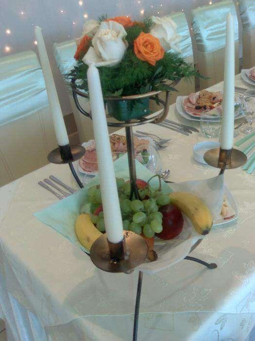 Suport fier forjat arcada decor nunti suporti flori fructe lumanari
