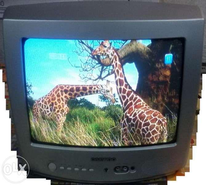 Телевизор DAEWOO, 14 инча, Full Hyper Band Tuner, с дистанционно + ба