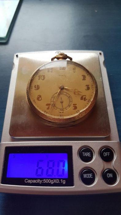 Ceas doxa de buzunar din aur 68g