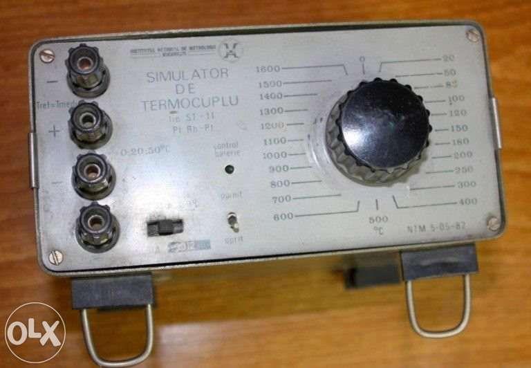 Simulator de termocuplu Pt Ph-Pt, 0-1600 grade