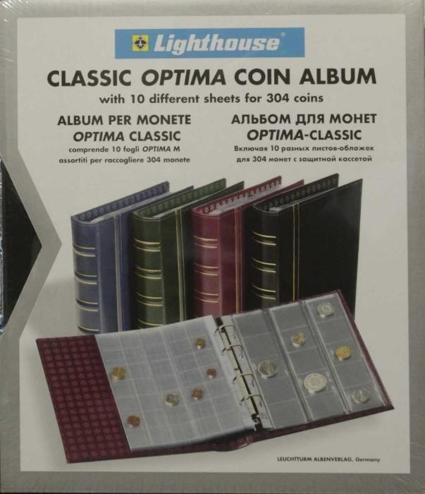 Албум Optima Classic с 10 листа за 304 броя монети