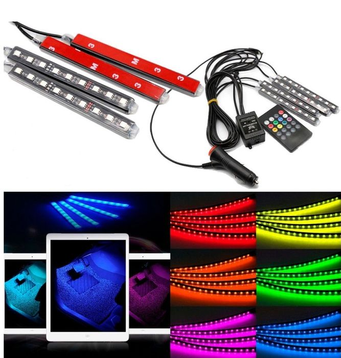 Цветомузика LED Интериорно Осветление Диодни ленти RGB кола осветление гр. София - image 12