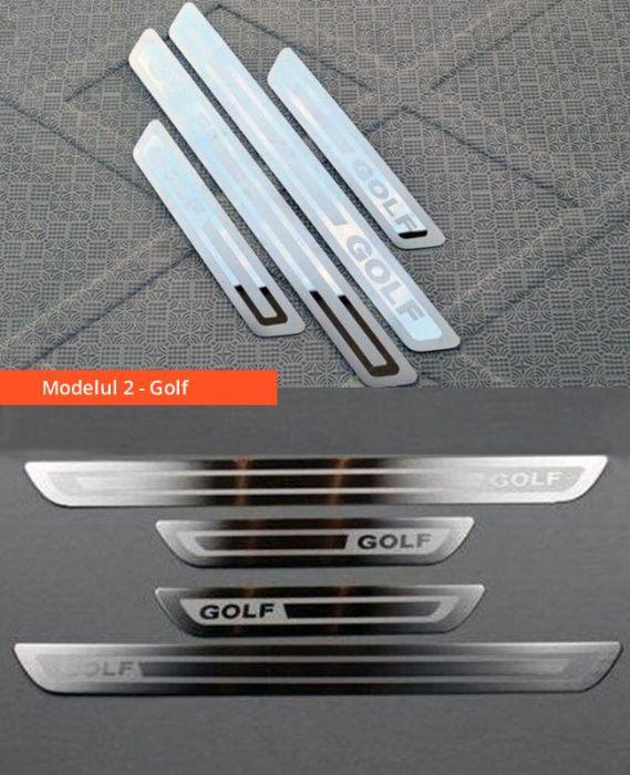 Ornamente inox praguri (9 modele) -VW Golf 4-7, Passat B6 B7 B8, Jetta Bucuresti - imagine 3