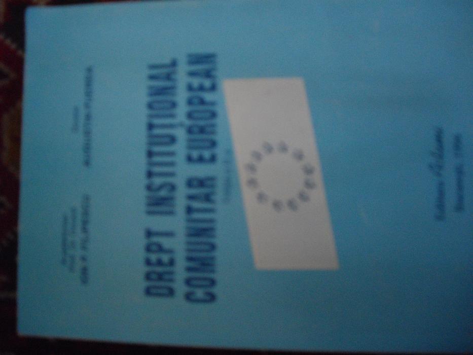 "Vand cartea ""Drept institutional comunitar european"""