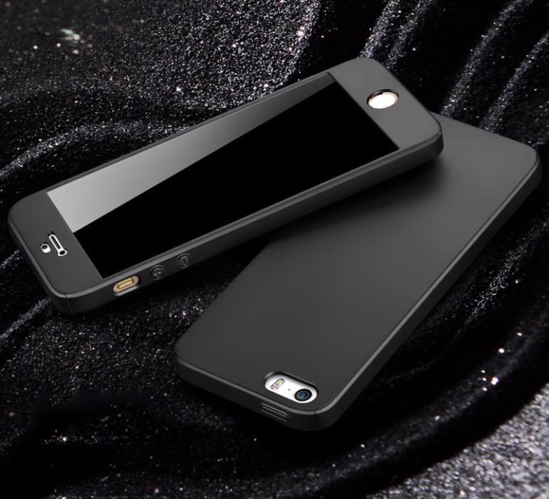 360 градуса мат калъф кейс за IPhone 5, 5S, 5SE