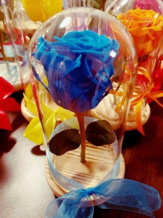 Trandafir criogenat turcoaz in cupola cristalina