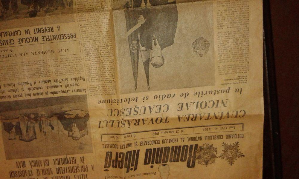 ziar vechi din joi 21 Decembrie 1989 Romania Libera ultima aparitie