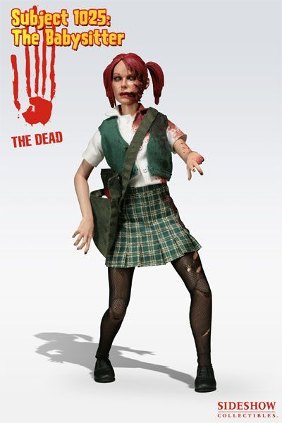 Sideshow The Dead Subject 1025: Babysitter zombie figurina