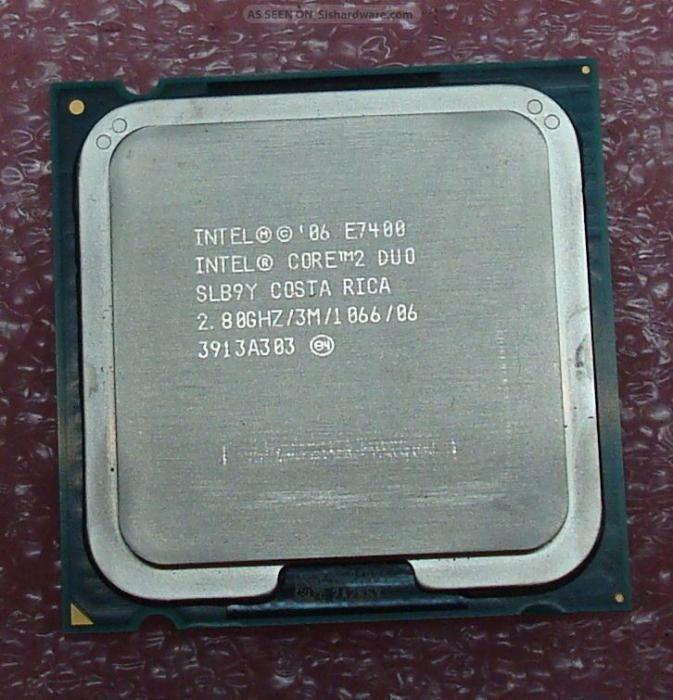 procesor intel core 2 duo - dual core E7400 E5500 E4400 socket 775 PC