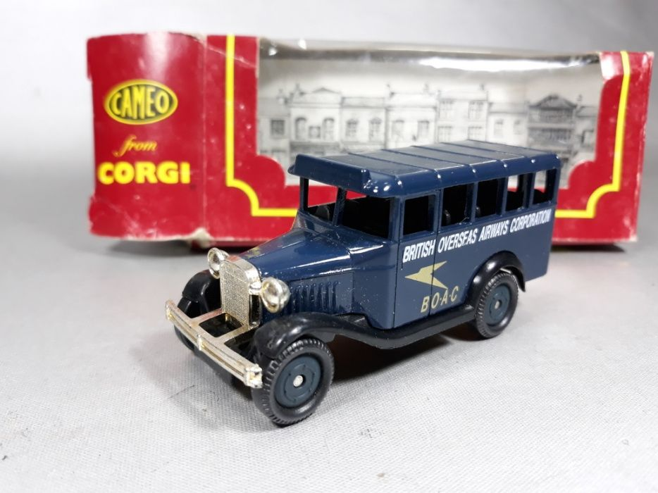 Autobuz Corgi autocar vintage macheta de metal colecție made in Englan