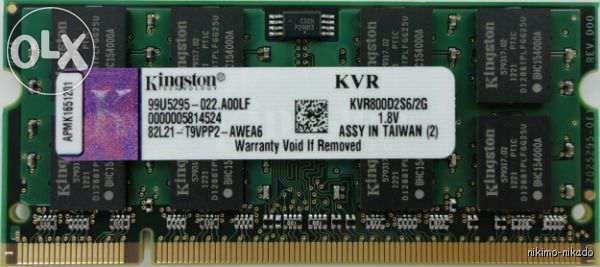 Memorie 4G ddr2 laptop sau desktop (2x2G)