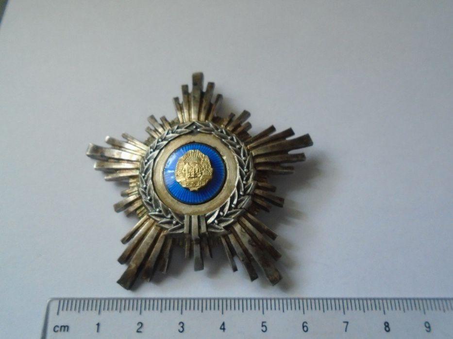 Ordinul Steaua RSR cls IV , argint , cutie, bareta Ploiesti - imagine 1