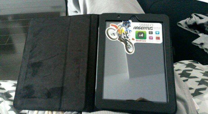 """Husa flip case PIELE tableta lenovo smilo argentus 7.85 """" inch"""