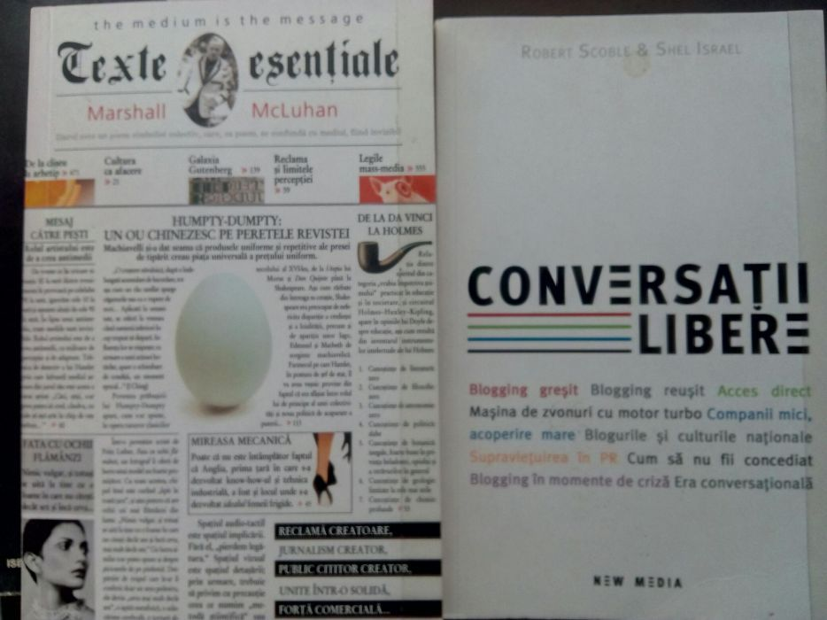 M. McLuhan, blog R. Scoble, S. Israel, I. Dragan, P. Flichy comunicare