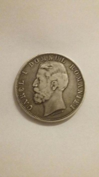 Moneda argint 5lei cu Regele Carol