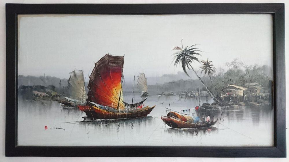 40 годишна Маслена картина от остров бали